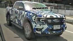Ford Ranger 2023 lộ ảnh chạy thử