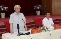 Tổng Bí thư, Chủ tịch nước Nguyễn Phú Trọng làm việc tại tỉnh Kiên Giang
