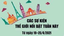Dự kiến các sự kiện thế giới nổi bật tuần này 19-25/4/2021