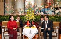 Chủ tịch Quốc hội Nguyễn Thị Kim Ngân tiếp Bí thư Tỉnh ủy Giang Tô