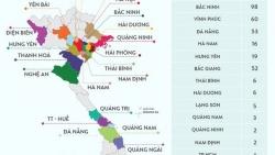 'Bản đồ' dịch Covid-19 tại 25 tỉnh, thành phố trên cả nước