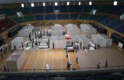 Covid-19: Đà Nẵng lắp đặt bệnh viện dã chiến tại Cung thể thao Tiên Sơn