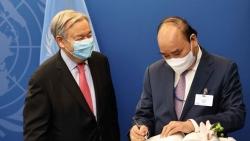 Hình ảnh 'nóng hổi' từ kỳ họp Đại hội đồng Liên hợp quốc khóa 76