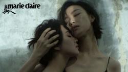 Cộng đồng mạng xôn xao về khoảnh khắc tình tứ táo bạo của hai 'chị đẹp' Cbiz Lưu Thi Thi và Nghê Ni