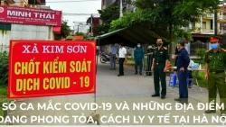 Infographic: Số ca mắc Covid-19 và những địa điểm đang bị cách ly y tế tại Hà Nội