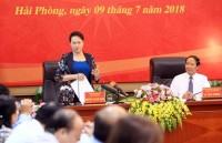 Chủ tịch Quốc hội làm việc tại Hải Phòng