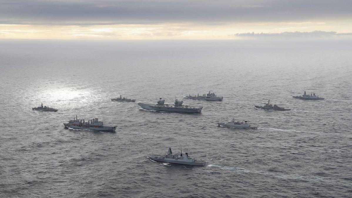 Nhóm tác chiến tàu sân bay của London tập trận tại Ấn Độ Dương, thực hiện tầm nhìn 'Nước Anh toàn cầu'
