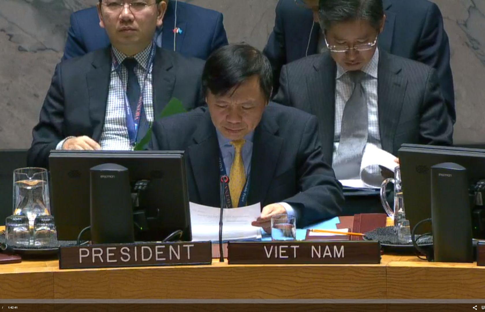 Việt Nam chủ trì Phiên họp của Hội đồng Bảo an về tình hình Yemen