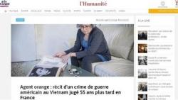 Truyền thông châu Âu đưa tin đậm nét về 'vụ kiện lịch sử' vì các nạn nhân chất độc da cam Việt Nam