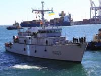 Một tàu chiến của NATO cập cảng Ukraine