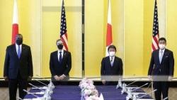 Mỹ-Nhật bắt đầu đối thoại 2+2, nhất trí phản đối Trung Quốc nỗ lực thay đổi hiện trạng ở Biển Đông