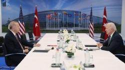 Tổng thống Erdogan tuyên bố 'chẳng có gì Mỹ-Thổ Nhĩ kỳ không giải quyết được' sau cuộc gặp ông Biden
