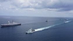 Singapore-Malaysia đổ bộ tàu khu trục, trực thăng săn ngầm ở Eo biển Malacca