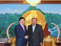 Phó Thủ tướng Trịnh Đình Dũng gặp lãnh đạo Đảng, Nhà nước Lào