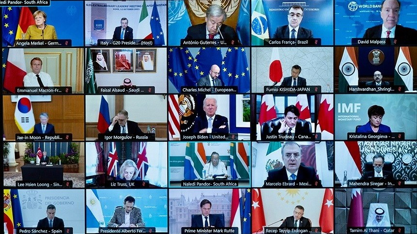 Thượng đỉnh khẩn G20 về Afghanistan: Hàng tỷ USD viện trợ, nêu cao quyền phụ nữ và 'không có nghĩa là' công nhận Taliban