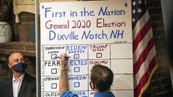 Bầu cử Mỹ 2020: Địa phương đầu tiên mở màn ngày 'chung kết', ông Trump không giành được phiếu nào