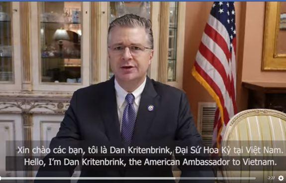 Đại sứ Mỹ Daniel Kritenbrink: Chính phủ Việt Nam đã rất xuất sắc khi đương đầu với đại dịch Covid-19
