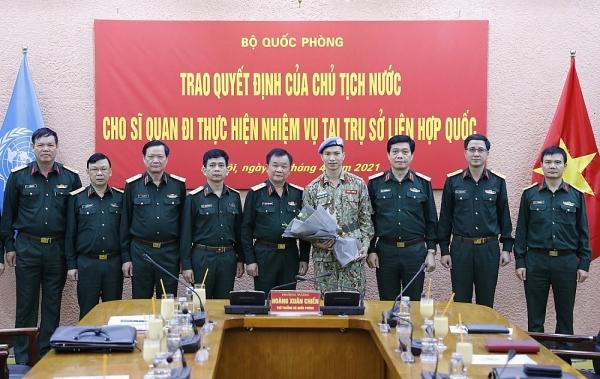 Sỹ quan thứ ba của Việt Nam làm nhiệm vụ tại Trụ sở Liên hợp quốc là ai?