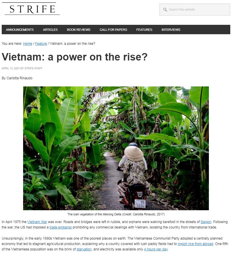 Báo Anh: Việt Nam đang vươn lên với tư cách một cường quốc tầm trung