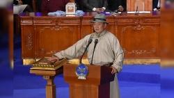 Mông Cổ: Tổng thống đắc cử Ukhnaa Khurelsukh tuyên thệ nhậm chức