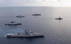 Ấn Độ, Singapore tập trận hải quân chung gần Biển Đông
