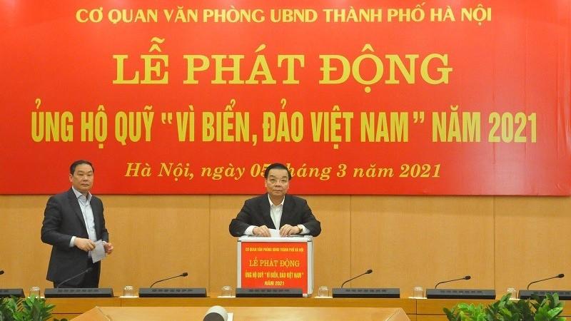 """Văn phòng Ủy ban Nhân dân thành phố Hà Nội phát động ủng hộ quỹ """"Vì biển, đảo Việt Nam"""" năm 2021"""