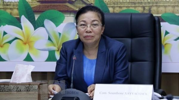 Hội nghị trực tuyến nghe thông báo về kết quả Đại hội lần thứ XI của Đảng Nhân dân Cách mạng Lào