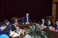 Thứ trưởng Lê Hoài Trung làm việc với lãnh đạo chủ chốt của tỉnh Điện Biên