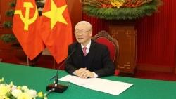 Tổng Bí thư, Chủ tịch nước Nguyễn Phú Trọng điện đàm với Thủ tướng Nhật Bản Suga Yoshihide