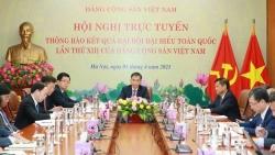 Hội nghị trực tuyến thông báo kết quả Đại hội XIII của Đảng Cộng sản Việt Nam tới Đảng Nhân dân Cách mạng Lào