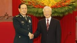 Tổng Bí thư Nguyễn Phú Trọng tiếp Bộ trưởng Quốc phòng Trung Quốc Ngụy Phượng Hòa