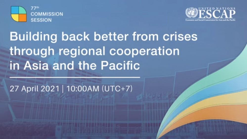 Phó Thủ tướng Phạm Bình Minh gửi thông điệp tới Khóa họp lần thứ 77 Ủy ban Kinh tế-xã hội khu vực châu Á-Thái Bình Dương của Liên hợp quốc