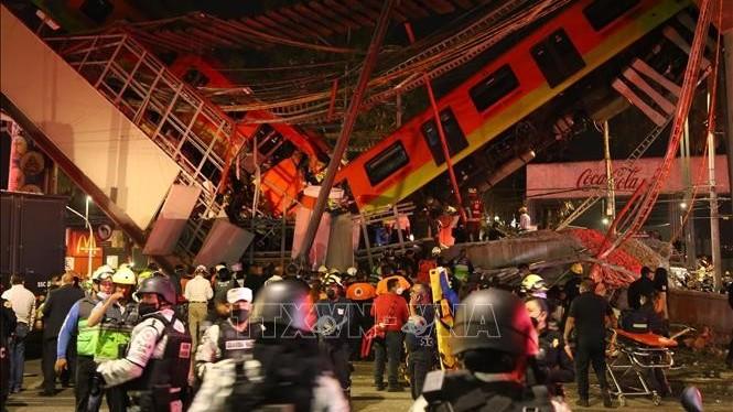 Điện thăm hỏi về vụ tai nạn tại Tuyến metro số 12 tại Mexico