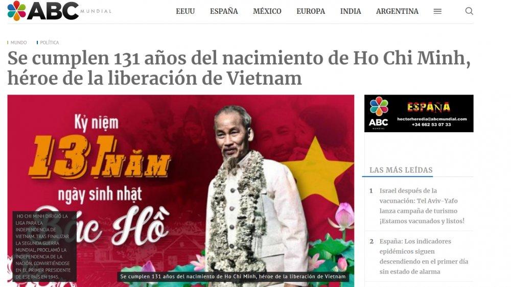 Báo Argentina viết về Chủ tịch Hồ Chí Minh nhân kỷ niệm 131 năm ngày sinh của Bác