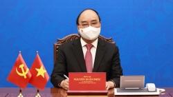 Chủ tịch nước Nguyễn Xuân Phúc điện đàm với Tổng Bí thư, Chủ tịch Trung Quốc Tập Cận Bình