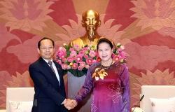 Chủ tịch Quốc hội Nguyễn Thị Kim Ngân tiếp Đại sứ Campuchia tại Việt Nam
