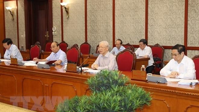 Tổng Bí thư Nguyễn Phú Trọng chủ trì họp Bộ Chính trị về tình hình phòng chống dịch Covid-19