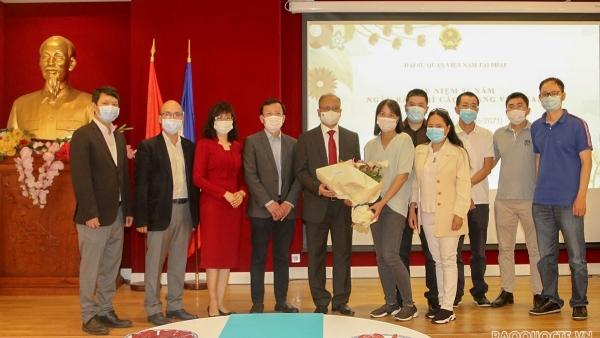 Đại sứ quán Việt Nam tại Pháp gặp mặt thân mật các cơ quan đại diện báo chí nhân ngày 21/6