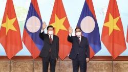 Thủ tướng Phạm Minh Chính hội kiến với Tổng Bí thư, Chủ tịch nước Lào Thongloun Sisoulith