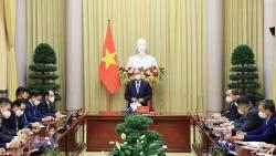 Chủ tịch nước gặp mặt Chủ tịch Hội Người Hàn Quốc tại Việt Nam và một số tập đoàn Hàn Quốc