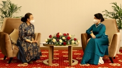 Phu nhân Chủ tịch nước tiếp đại diện Trường Song ngữ Lào-Việt Nam Nguyễn Du