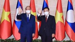 Chủ tịch nước Nguyễn Xuân Phúc hội kiến Chủ tịch Quốc hội Lào Saysomphone Phomvihane