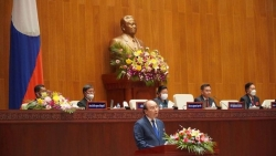 Chủ tịch nước Nguyễn Xuân Phúc phát biểu tại Kỳ họp Quốc hội Lào