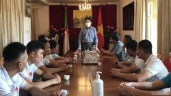 Đại sứ Nguyễn Thành Vinh tiếp Đội tuyển Việt Nam tham dự Army Games 2021 tại Algeria