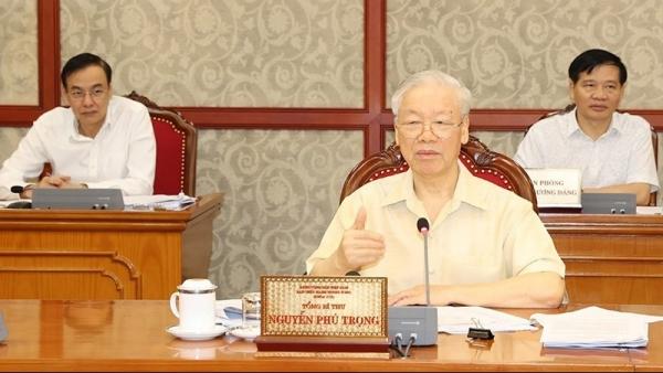 Tổng Bí thư Nguyễn Phú Trọng chủ trì họp Bộ Chính trị cho ý kiến về tình hình kinh tế-xã hội