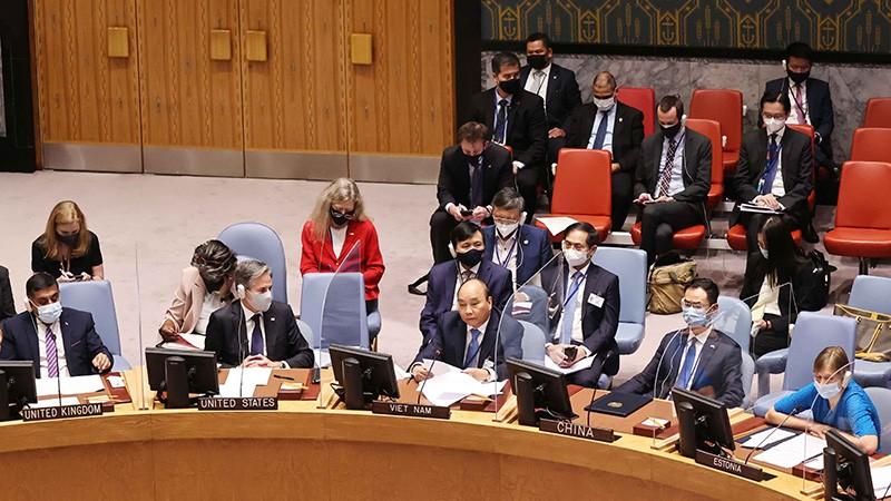 Chủ tịch nước tham dự và phát biểu tại Phiên họp cấp cao của Hội đồng Bảo an về an ninh khí hậu