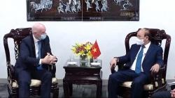 FIFA sẽ tiếp tục hợp tác chặt chẽ, hỗ trợ Liên đoàn bóng đá Việt Nam