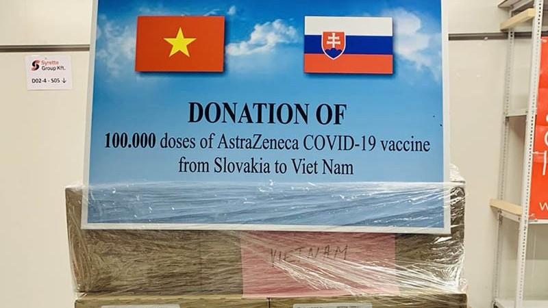 Slovakia ủng hộ 100.000 liều vaccine AstraZeneca cho Việt Nam