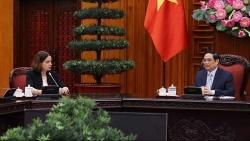 Thủ tướng Phạm Minh Chính tiếp Đại sứ Australia tại Việt Nam Robyn Mudie