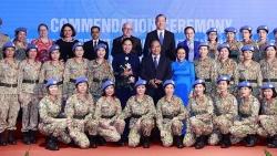 Chủ tịch nước tuyên dương các tập thể và cá nhân có thành tích xuất sắc tham gia hoạt động Gìn giữ hòa bình LHQ
